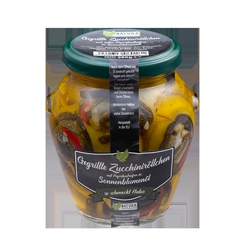 Produktbild Gegrillte Zucchini mit Paprikastreifen